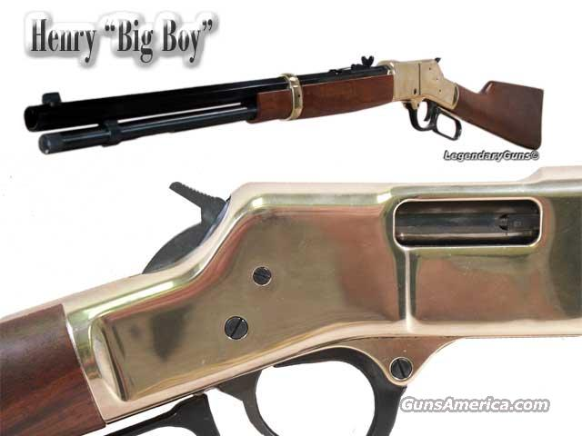 Henry lever action big bore 44mag 44spl guns gt rifles gt henry rifle
