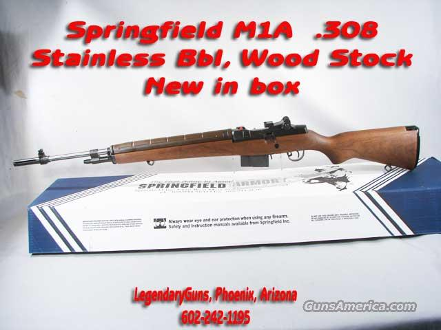 Springfield M1A .308 Stainless Bbl  Guns > Rifles > Springfield Armory Rifles > M1A/M14