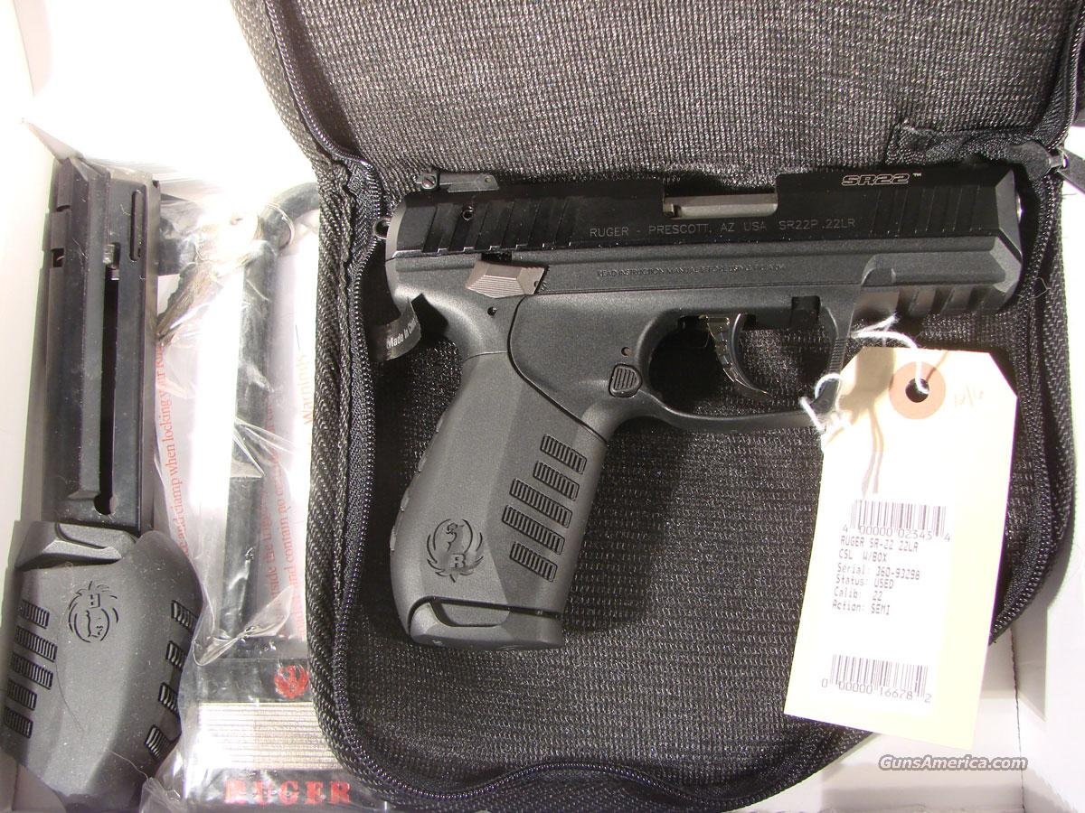 Ruger SR-22 Used As new   Guns > Pistols > Ruger Semi-Auto Pistols > Mark I & II Family