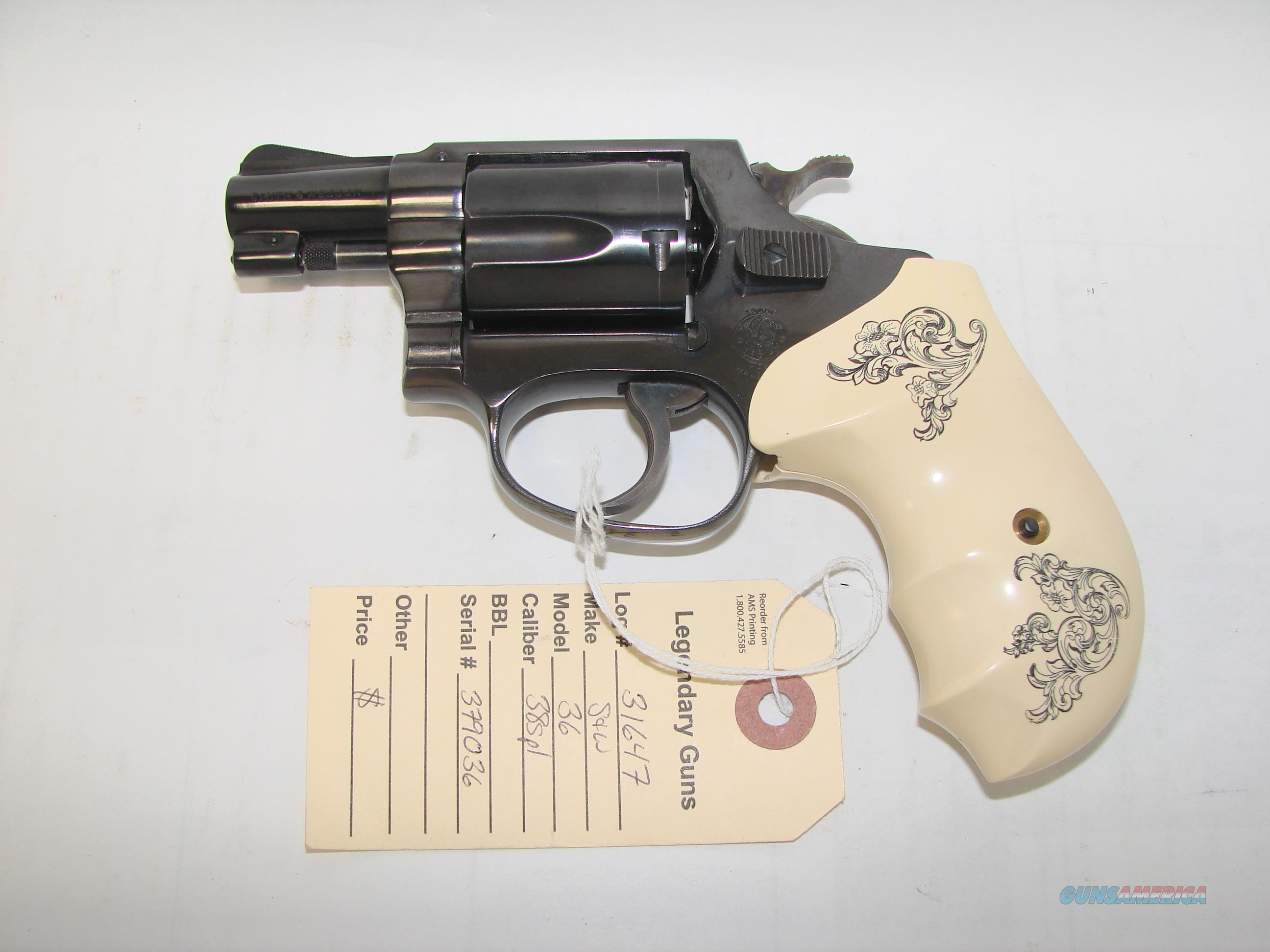 S&W 36 Flat Latch  Guns > Pistols > Smith & Wesson Revolvers > Pocket Pistols
