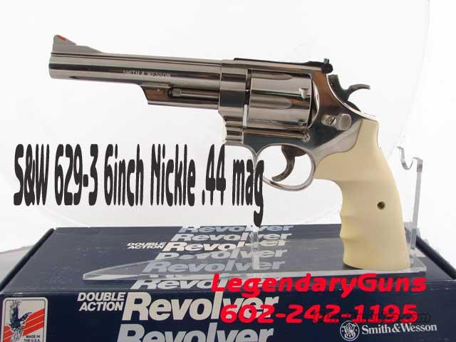 S&W 629-3 Nickle with White grips  Guns > Pistols > Smith & Wesson Revolvers > Model 629