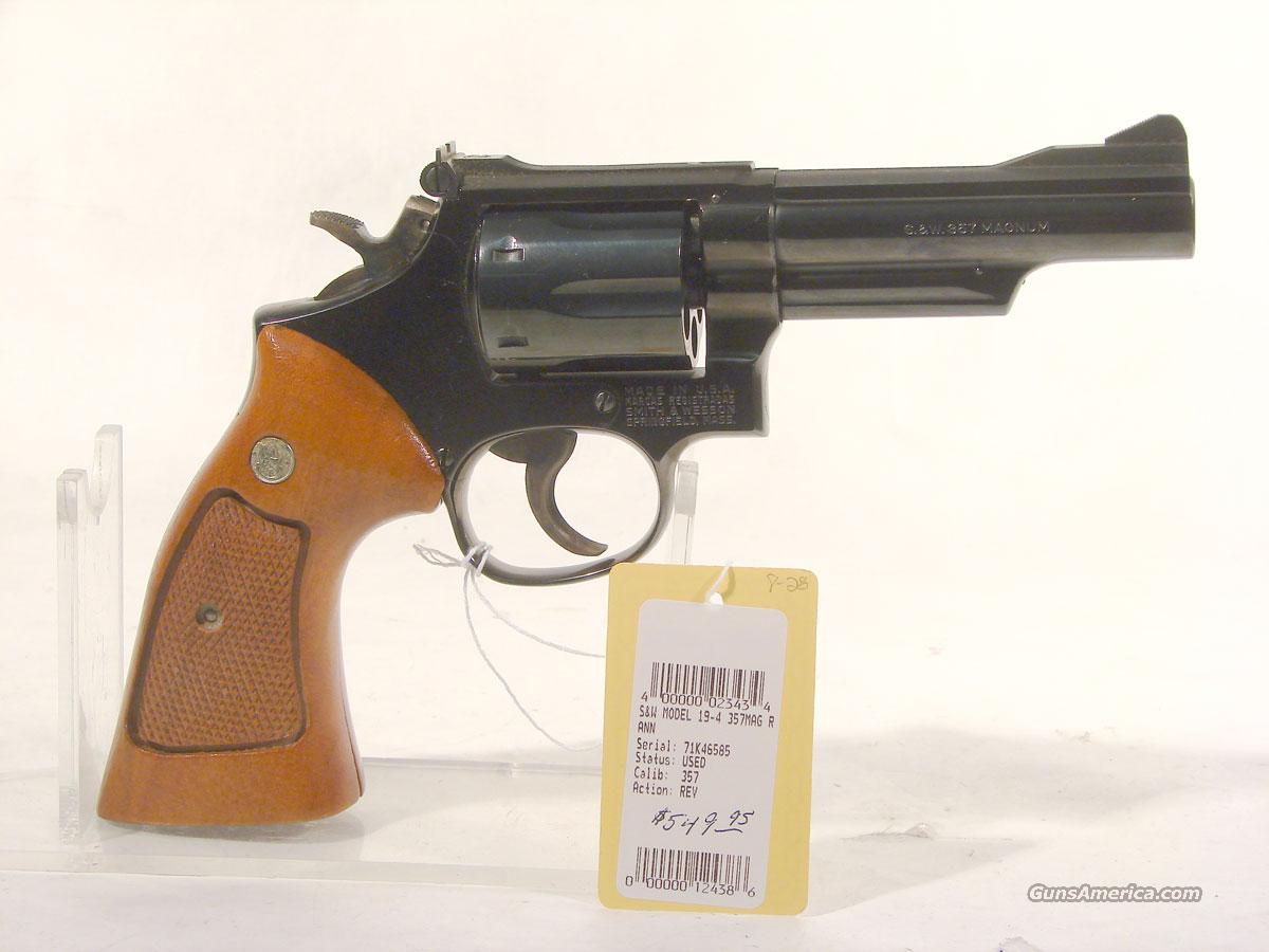 S&W Model 19-4 .357 4 inch  Guns > Pistols > Smith & Wesson Revolvers > Full Frame Revolver