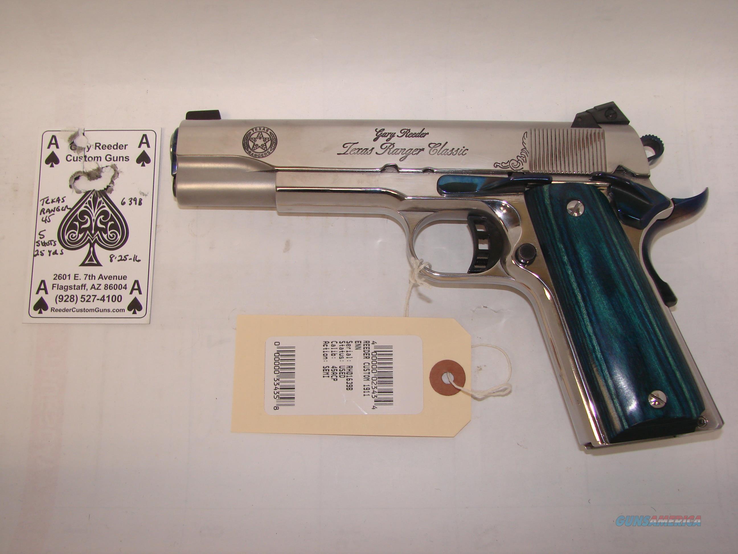Gary Reeder Texas Ranger 1911  Guns > Pistols > 1911 Pistol Copies (non-Colt)