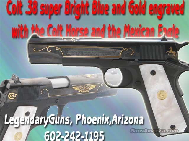 Colt .38 Super Mexican Eagle& Colt Horse  Guns > Pistols > Colt Commemorative Pistols