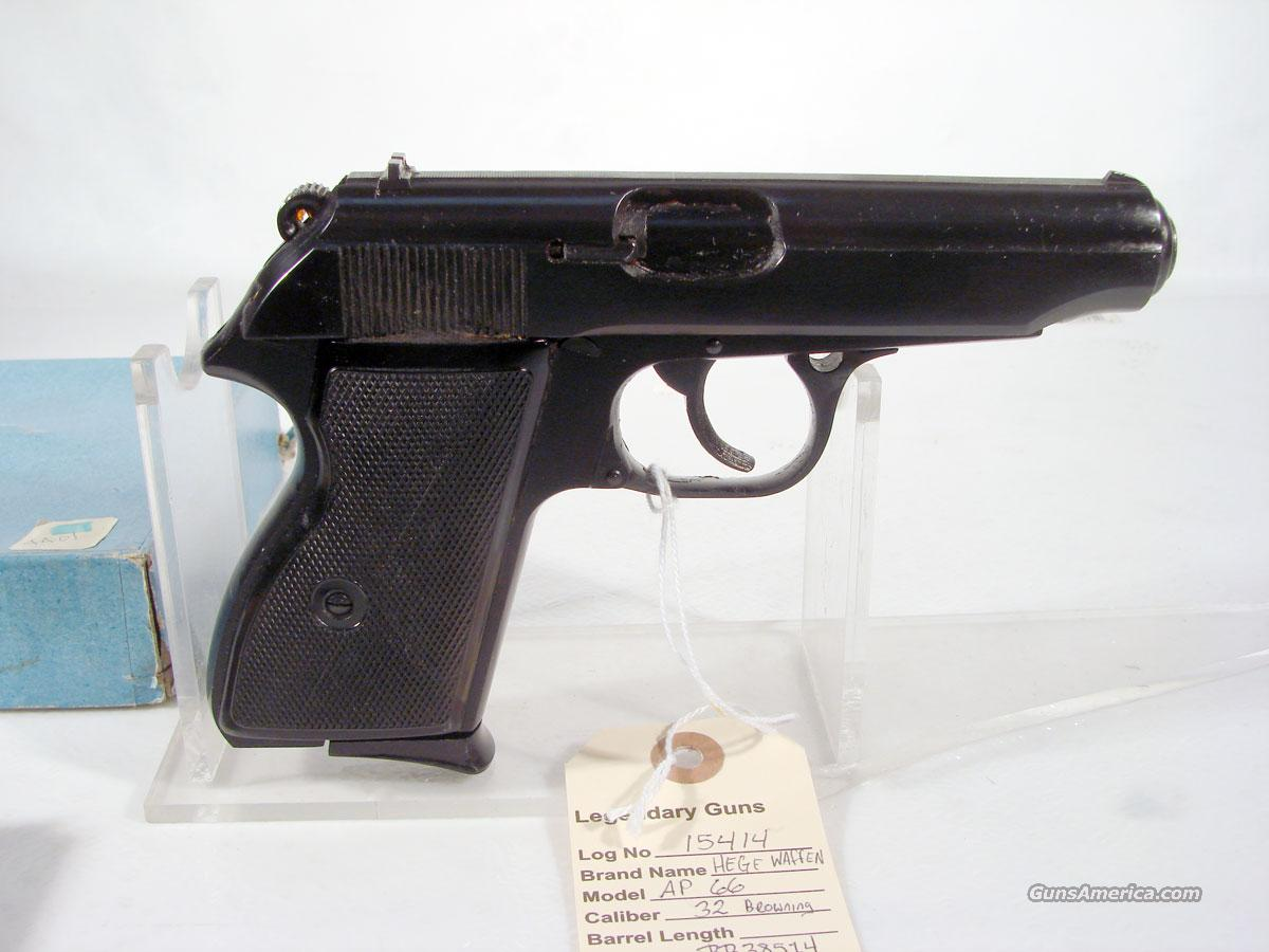 Hege/Waffen,  AP 66, .32 acp  Guns > Pistols > Walther Pistols > Post WWII > PPK Series