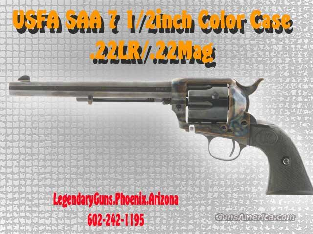 USFA SAA 71/2 Blue Color case .22lr/.22Mag  Guns > Pistols > United States Patent Firearms Revolvers/Pistols