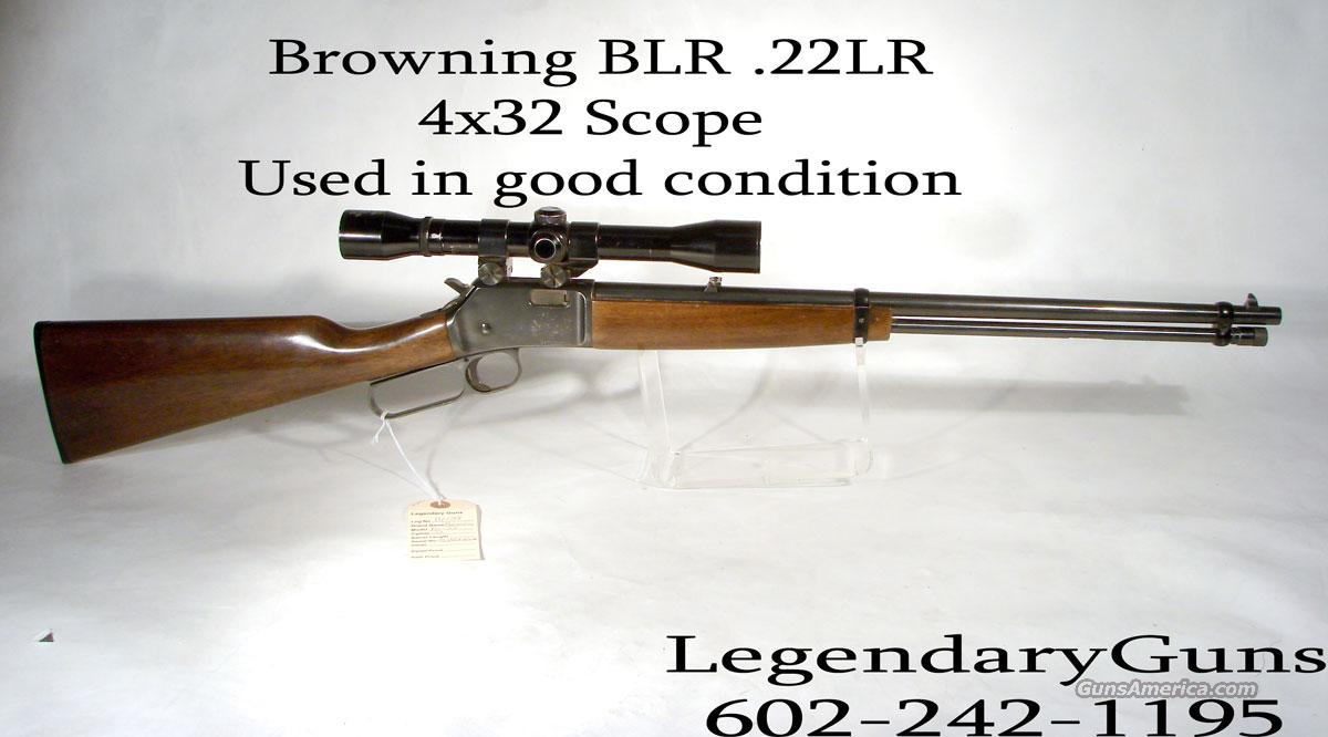Browning .22LR Lever action  4x32. USED  Guns > Rifles > Browning Rifles > Lever Action