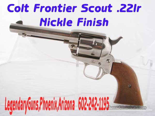 Colt SAA Frontier Scout .22LR Nickle  Guns > Pistols > Colt Single Action Revolvers - Modern (22 Cal.)