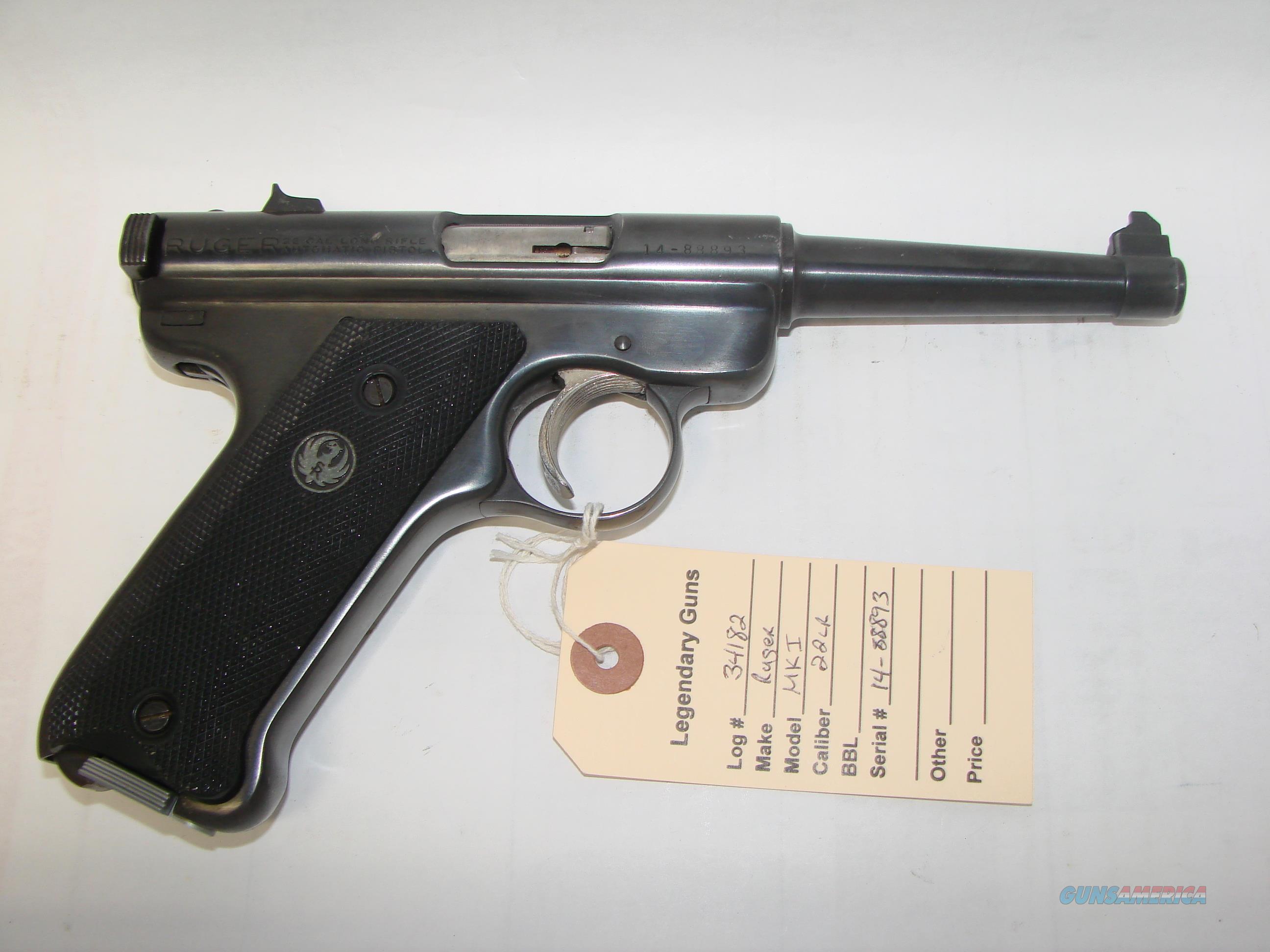 Ruger Mk I  Guns > Pistols > Ruger Semi-Auto Pistols > Mark I/II/III/IV Family
