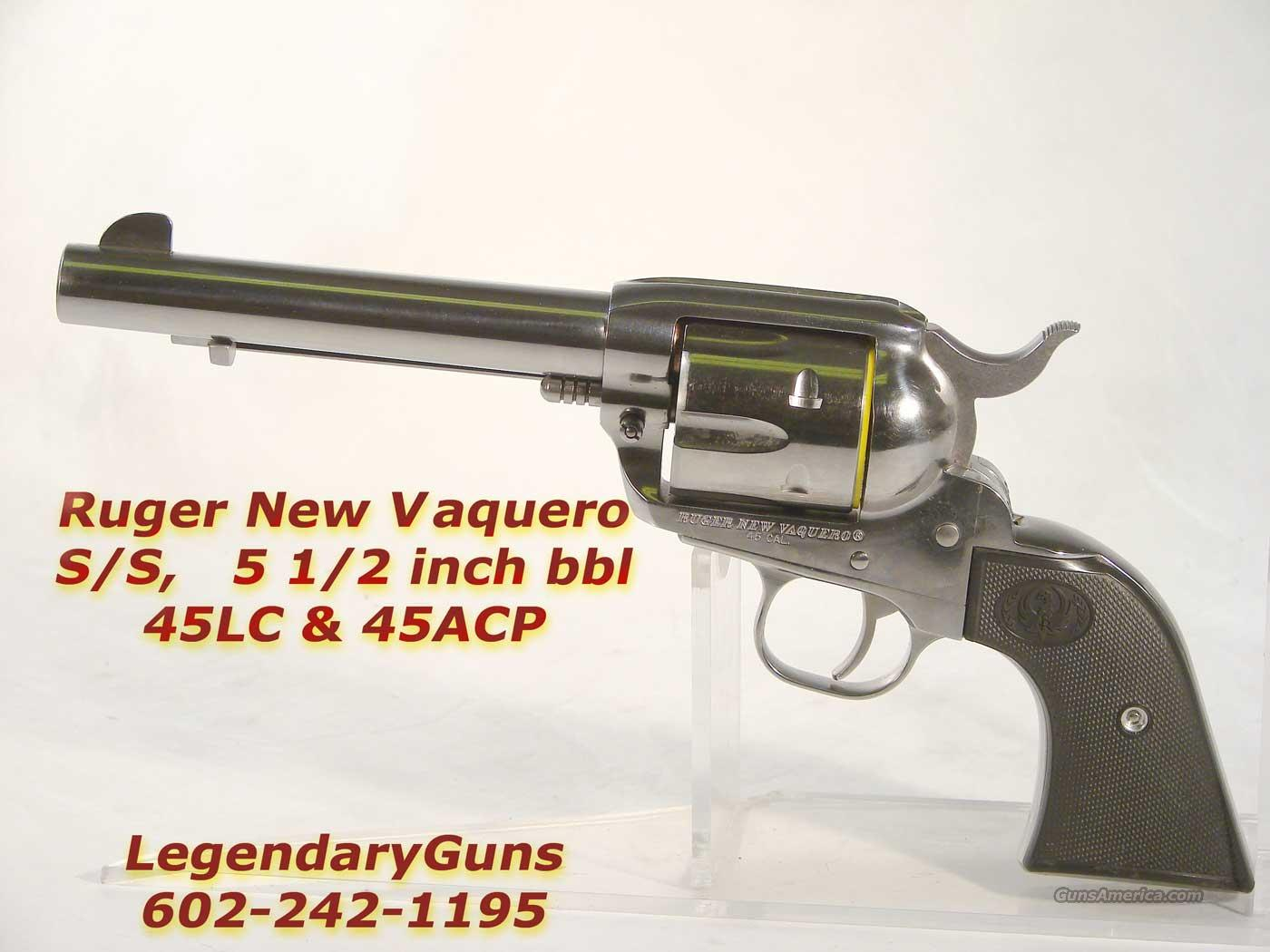 Ruger New Model Vaquero .45 LC and .45 ACP  Guns > Pistols > Ruger Single Action Revolvers > Cowboy Action