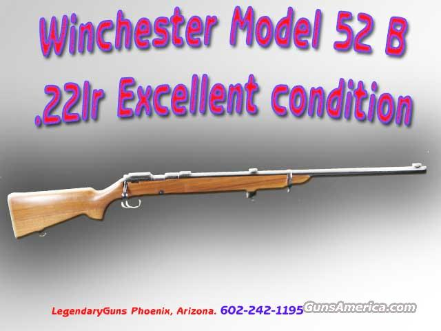 Winchester M-52 Model B Target Rifle .22LR  Guns > Rifles > Winchester Rifles - Modern Bolt/Auto/Single > Other Bolt Action