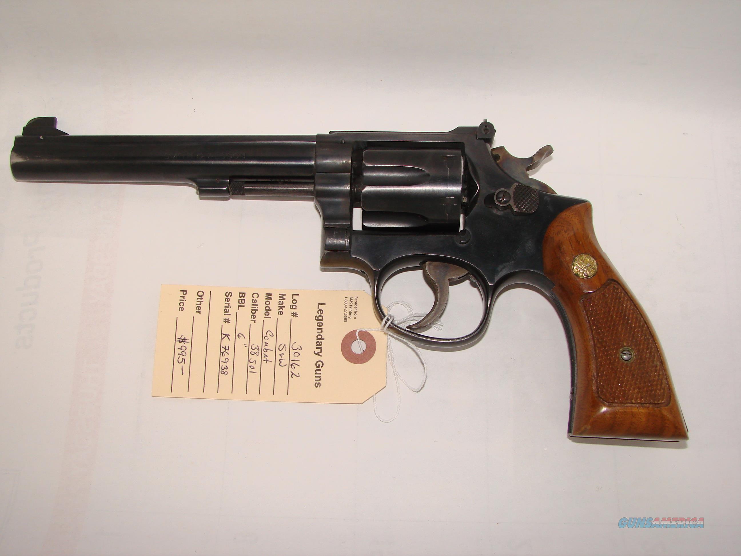 S&W Combat Masterpiece  Guns > Pistols > Smith & Wesson Revolvers > Med. Frame ( K/L )