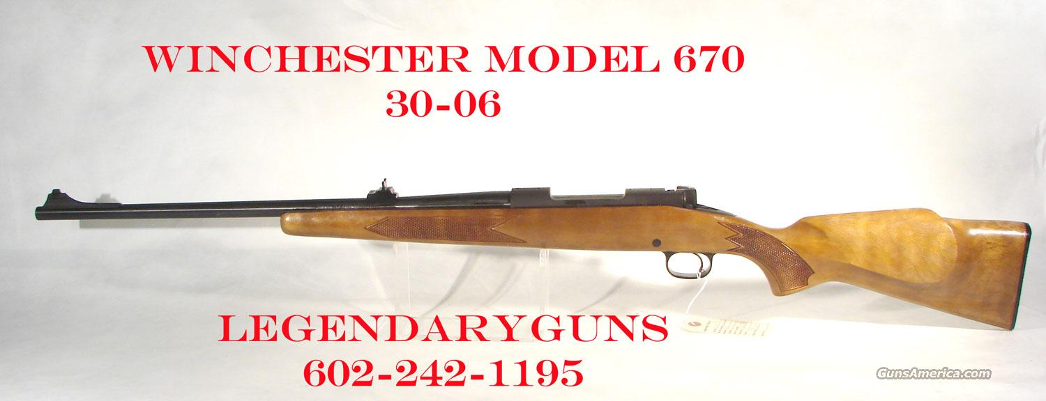 Winchester Model 670  30-06  Guns > Rifles > Winchester Rifles - Modern Bolt/Auto/Single > Other Bolt Action