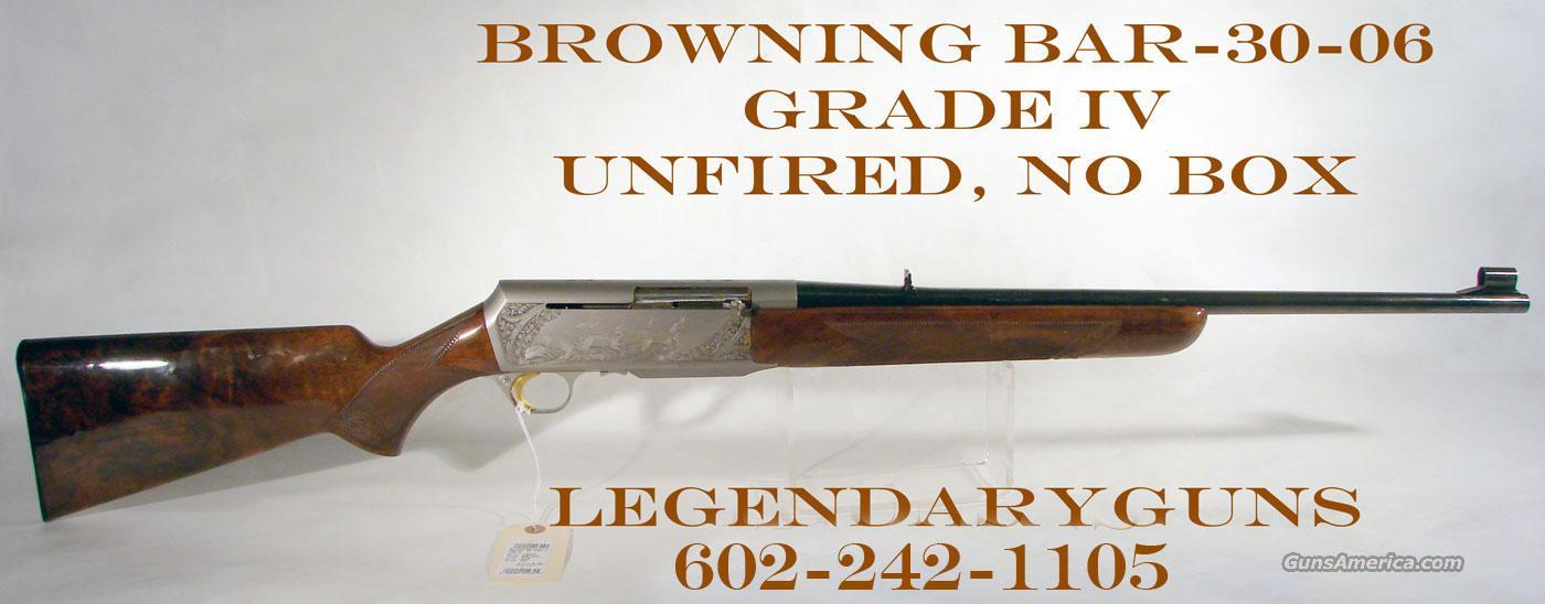 Browning BAR Grade IV, 30-06,  Guns > Rifles > Browning Rifles > Semi Auto > Hunting