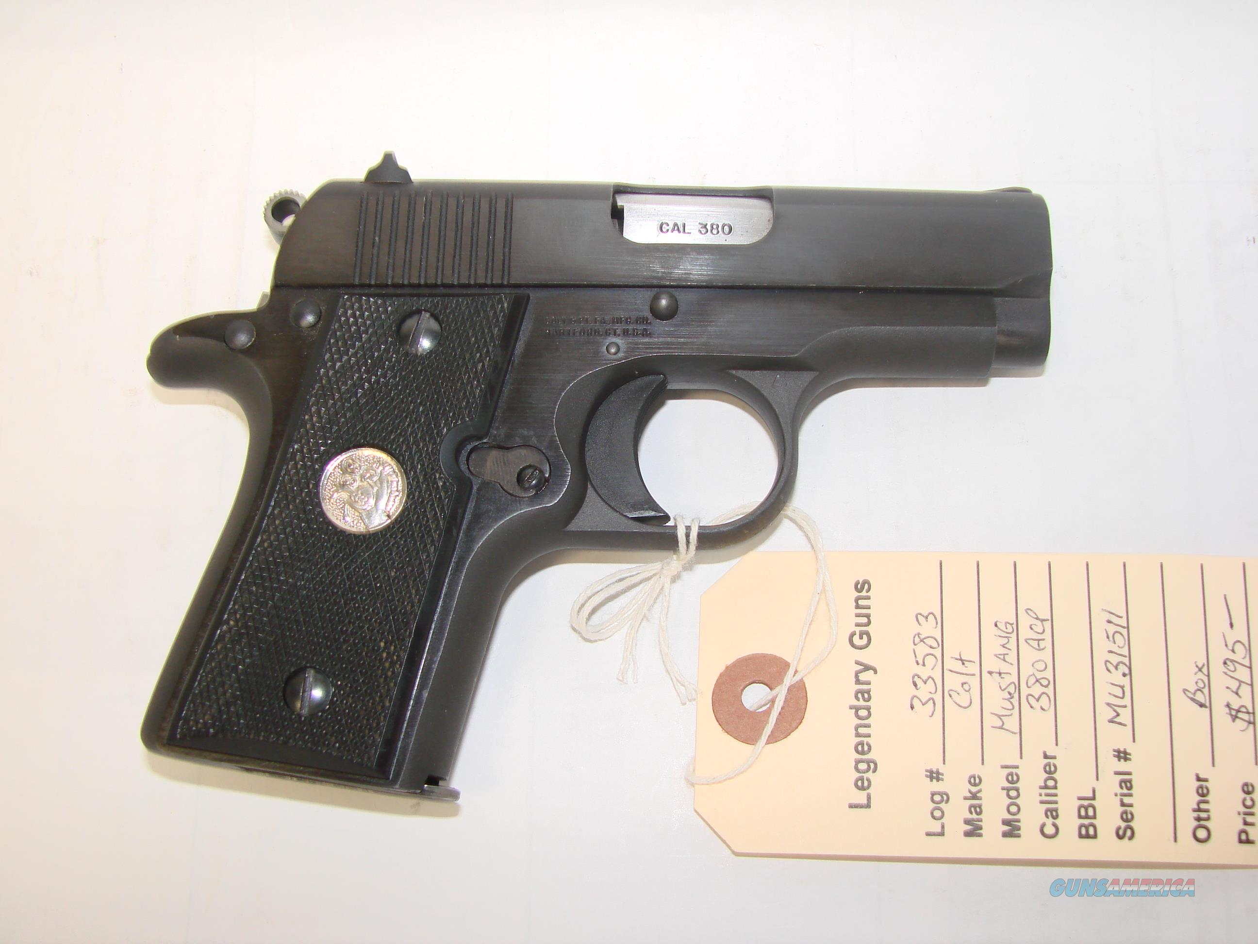 Colt Mustang   Guns > Pistols > Colt Automatic Pistols (.25, .32, & .380 cal)