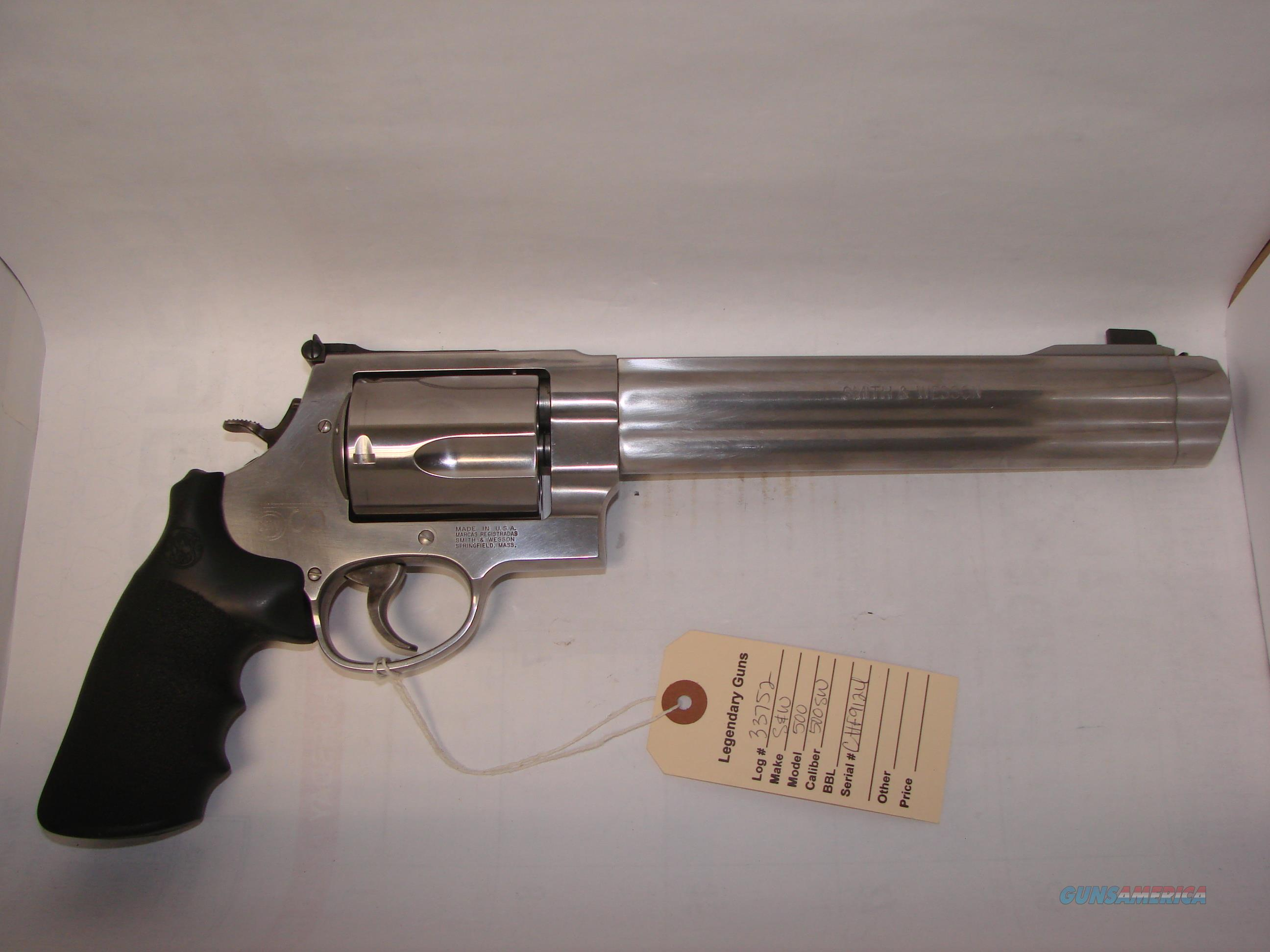 S&W 500  Guns > Pistols > Smith & Wesson Revolvers > Full Frame Revolver