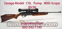 Savage Model 170 Pump Action 30/30  Savage Rifles > Other