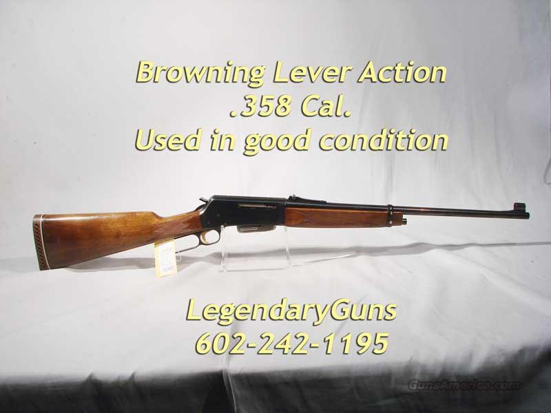 Browning Lever Action .358   Guns > Rifles > Browning Rifles > Lever Action