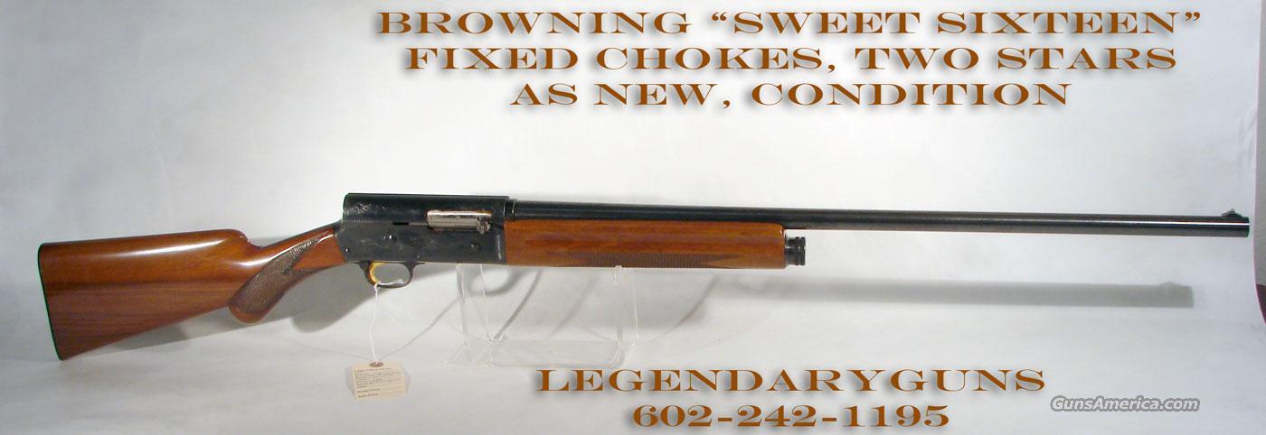 """Browning Auto 5, """"Sweet Sixteen""""  Guns > Shotguns > Browning Shotguns > Autoloaders > Hunting"""