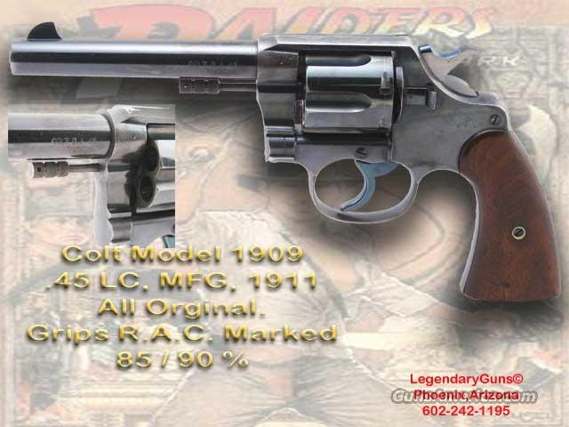 Colt Model 1909, .45 LC  Guns > Pistols > Colt Double Action Revolvers- Pre-1945