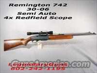 Remington 742 Semi Auto 30/06  Guns > Rifles > Remington Rifles - Modern > Other