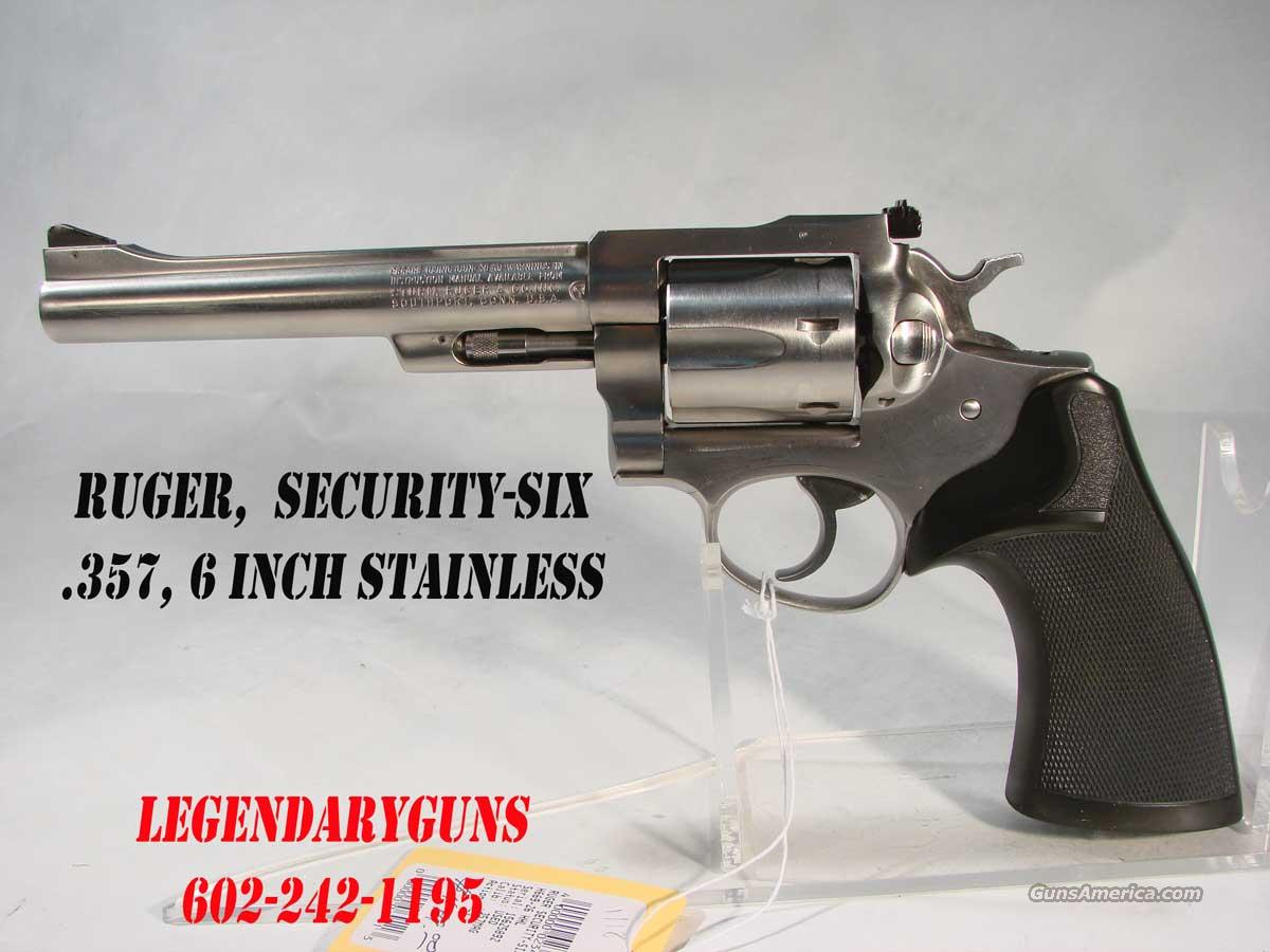 Ruger Security-Six, 6 inch .357 Pachmeyer grips  Guns > Pistols > Ruger Double Action Revolver > Security Six Type