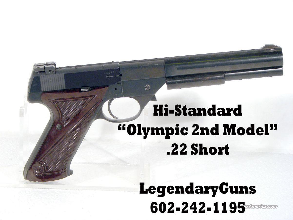 Hi Standard Olympic 2nd Model. .22 SHORTS  Guns > Pistols > High Standard Pistols