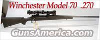 Winchester Model 70 .270 with  Scope  Guns > Rifles > Winchester Rifles - Modern Bolt/Auto/Single > Model 70 > Post-64