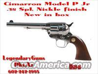 "Cimarron Model ""P"" JR. Nickle .38 Spl  Guns > Pistols > Cimmaron Pistols"