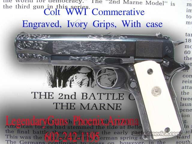 Colt Battle of the Marne WW I  .45  Guns > Pistols > Colt Commemorative Pistols