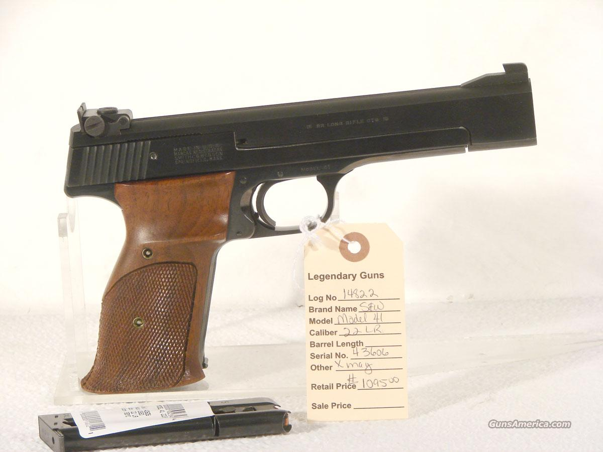 S&W Model 41 Target Pistol  6 inch bbl  Guns > Pistols > Smith & Wesson Pistols - Autos > .22 Autos