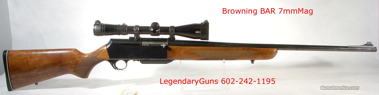 "Browning ""BAR"" 7MM Rem Mag  Guns > Rifles > Browning Rifles > Semi Auto > Hunting"