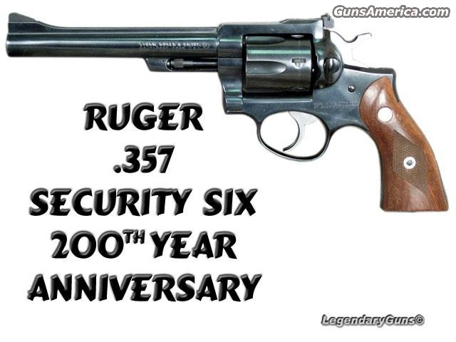 Security Six 200th Anniver.  Guns > Pistols > Ruger Double Action Revolver
