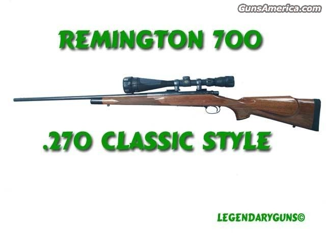 Remmington 700 .270  Guns > Rifles > Remington Rifles - Modern