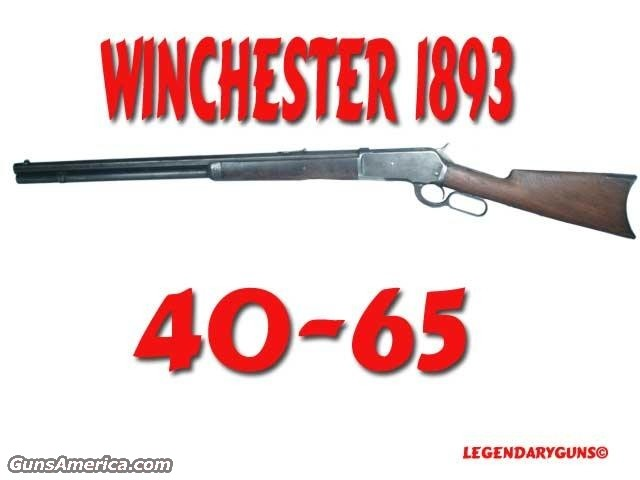 Win 1886 40-65 Made in 1893  Guns > Rifles > Winchester Rifles - Pre-1899 Lever