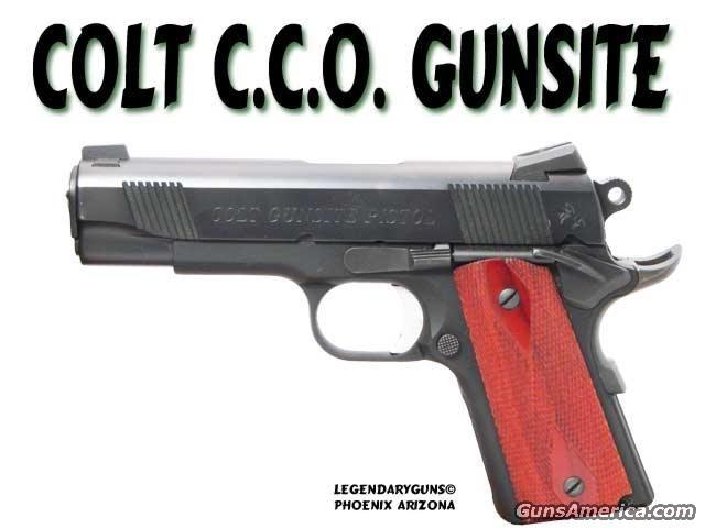 Colt CCO Gunsite  Guns > Pistols > Colt Automatic Pistols (1911 & Var)