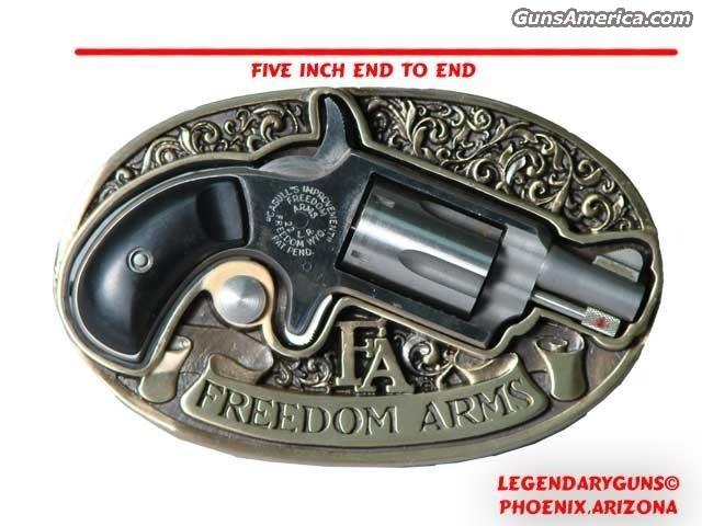 Freedom Arms BeltBuckleGun  Guns > Pistols > Freedom Arms Pistols