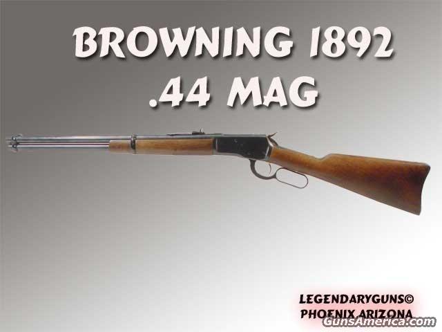 Browning 1892 .44 mag  Guns > Rifles > Browning Rifles