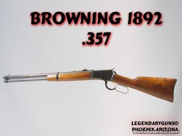 Browning 1892 .357 mag  Guns > Rifles > Browning Rifles