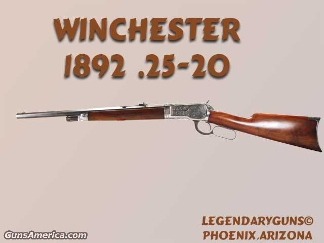 Winchester 1892 25-20 Engraved  Guns > Rifles > Winchester Rifles - Pre-1899 Lever