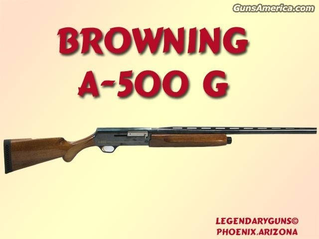 Browning A 500 G 12g  Guns > Rifles > Browning Rifles