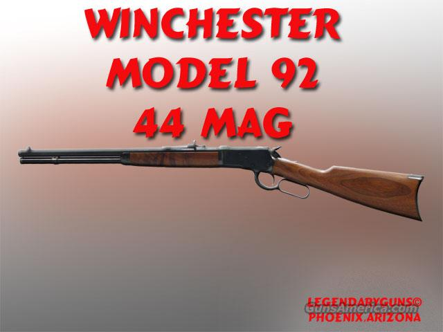 Winchester 92 20inch 44mag  Guns > Rifles > Winchester Rifles - Modern Lever