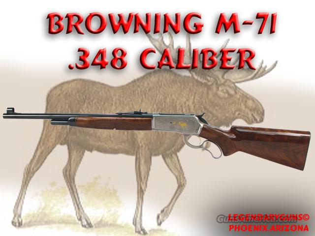 Browning M-71 .348  Guns > Rifles > Browning Rifles