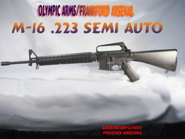 Olympic Arms/Frankfort Arsenal Ar-15  Guns > Rifles > Olympic Arms Rifles