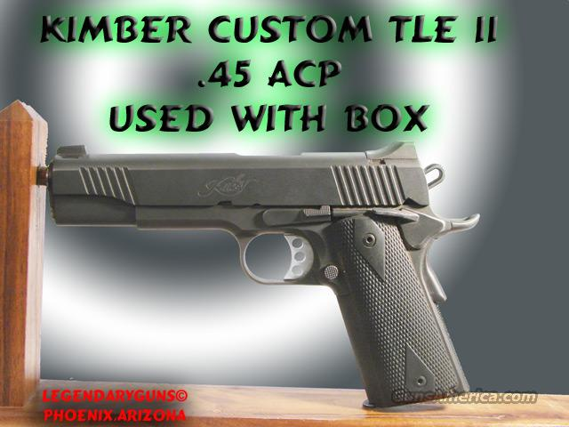 Kimber CustomTLE II used   Guns > Pistols > Kimber of America Pistols