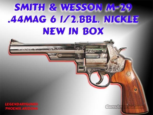 S&W NEW M-29 Nickle 61/2 .44mag  Guns > Pistols > Smith & Wesson Revolvers > Model 629