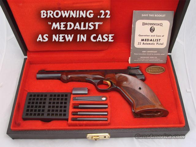 Browning Medalist .22 As new in Case  Guns > Pistols > Browning Pistols > Other Autos