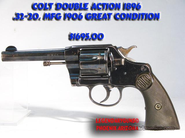Colt 1896 Dbl Action .32020  used  Guns > Pistols > Colt Double Action Revolvers- Pre-1945