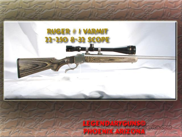 Ruger # 1 .22-250 Varmit  used  Guns > Rifles > Ruger Rifles > #1 Type