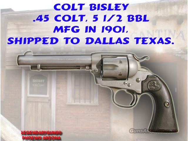 Colt Bisley .45lc MFG 1901  Guns > Pistols > Colt Single Action Revolvers - 2nd Gen.